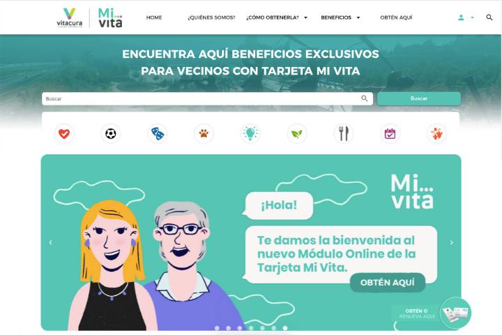Nueva plataforma web de Tajeta Mi Vita