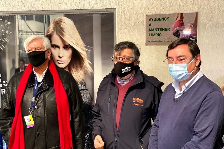 El alcalde Raúl Torrealba, el administrador de Los Cobres, Jorge Lama y el intentendente Felipe Guevara