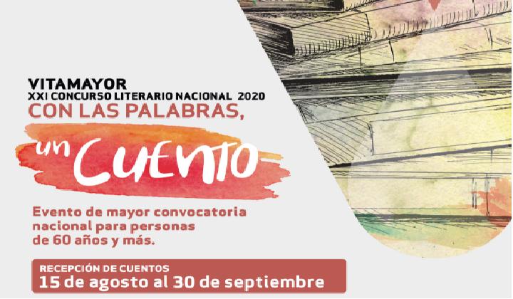 Participe en este importante certamen a nivel nacional, solo para aficionados, mayores de 60 de todo Chile. Aproveche la situación actual, escriba un cuento (de un máximo de 6 páginas) y envíelo por mail. ¡Hay grandes premios!  Recepción de obras hasta el 30 de septiembre.