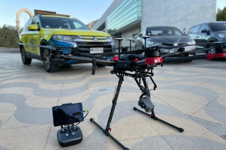 Dron de vigilancia para accesos y salidas de la comuna