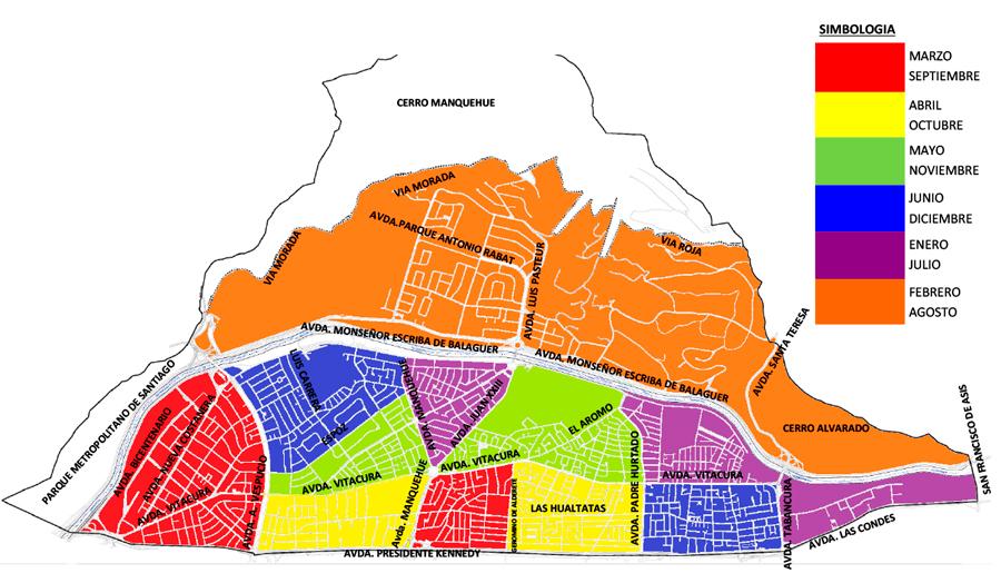 Vitacura: Plano programa de arbolado urbano